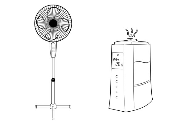 humidifier and fan